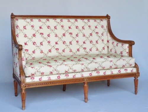 Louis XVI - Louis XVI sofa stamped G. Jacob
