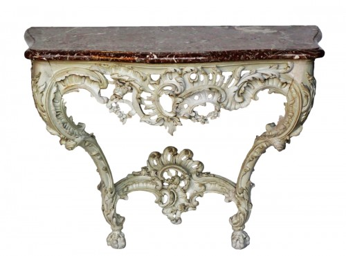 Lacquered wood console, Louis XV period