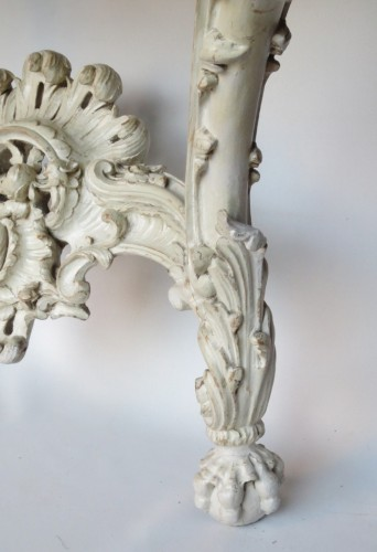 Lacquered wood console, Louis XV period -