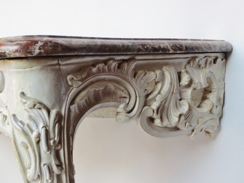 - Lacquered wood console, Louis XV period