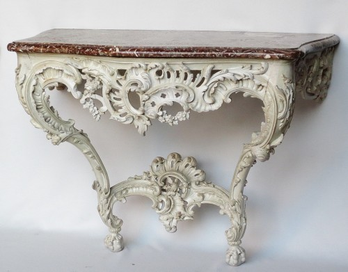 Antiquités - Lacquered wood console, Louis XV period