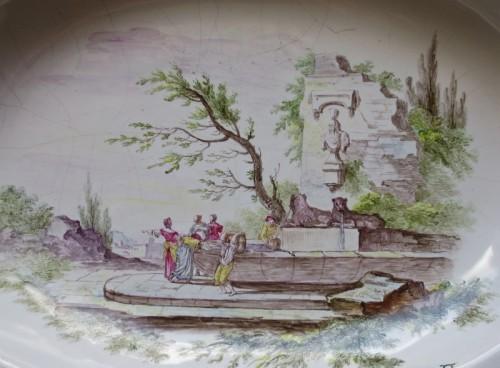 "Marseilles earthenware dish ""Veuve Perrin"" 18th century - Porcelain & Faience Style"