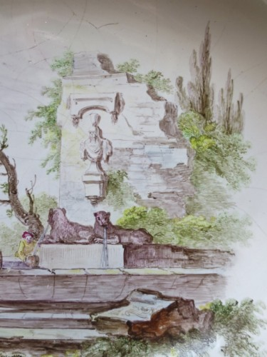 "Porcelain & Faience  - Marseilles earthenware dish ""Veuve Perrin"" 18th century"