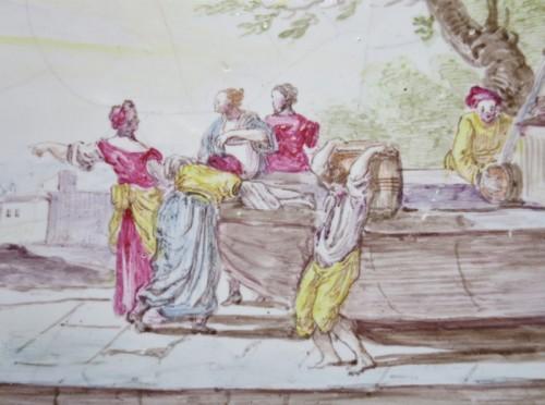 "18th century - Marseilles earthenware dish ""Veuve Perrin"" 18th century"