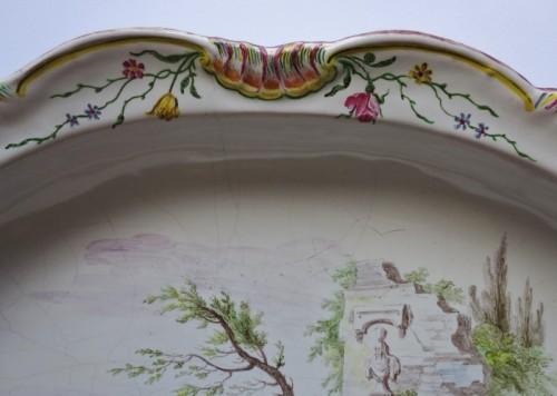 "- Marseilles earthenware dish ""Veuve Perrin"" 18th century"