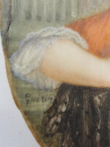Objects of Vertu  - Tortoiseshell box, miniature signed Guerin