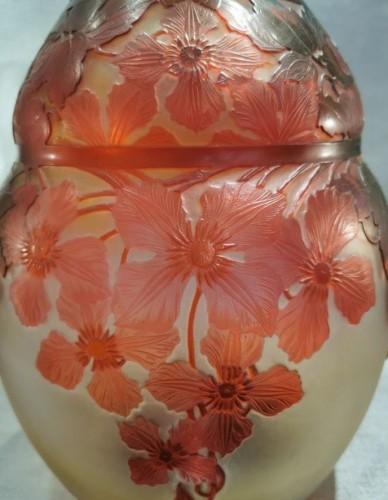 """Emile Gallé - Vase """"with clematis"""" - Art nouveau"""