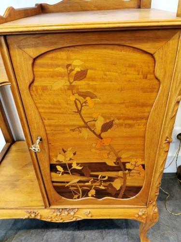 Art nouveau - Louis Majorelle - Art Nouveau collector's cabinet