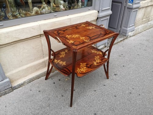 """Majorelle - """"Aux Orchidée"""" tea table - Furniture Style Art nouveau"""