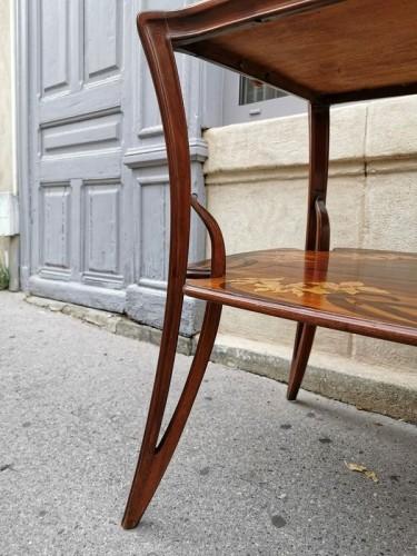 """Art nouveau - Majorelle - """"Aux Orchidée"""" tea table"""
