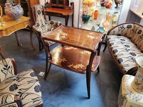 """Antiquités - Majorelle - """"Aux Orchidée"""" tea table"""