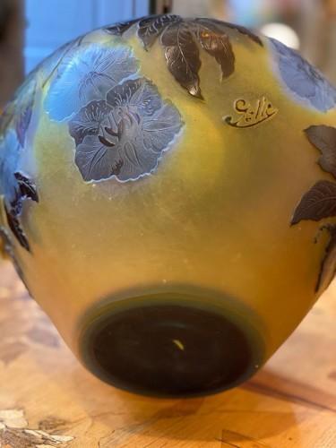 """Emile Gallé - """"Bignones"""" vase - Art nouveau"""