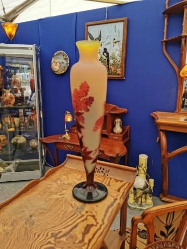 """Glass & Crystal  - Emile Gallé - Large vase """"aux Lilas"""""""