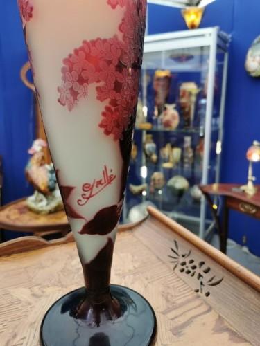 """Art nouveau - Emile Gallé - Large vase """"aux Lilas"""""""