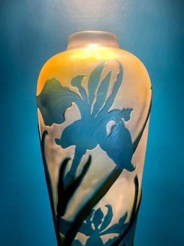 Emile Gallé - Iris and water lilies vase - Art nouveau