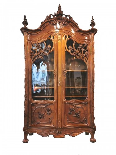 Art Nouveau bookcase, Ecole de Nancy