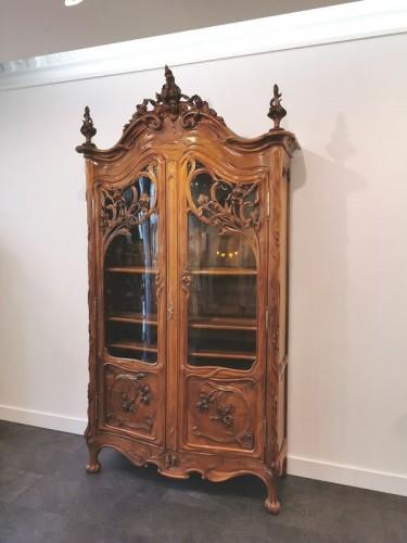 Furniture  - Art Nouveau bookcase, Ecole de Nancy