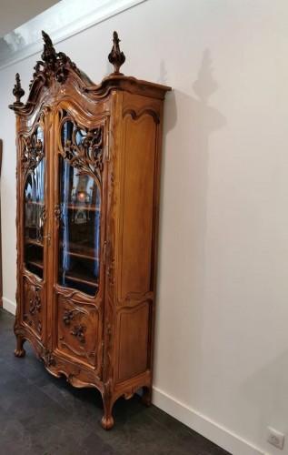 Art Nouveau bookcase, Ecole de Nancy -