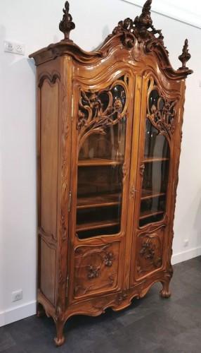 20th century - Art Nouveau bookcase, Ecole de Nancy