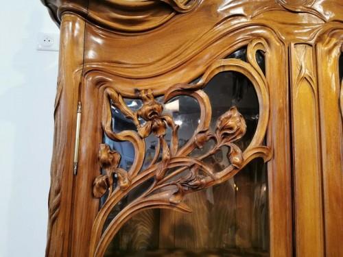 Antiquités - Art Nouveau bookcase, Ecole de Nancy