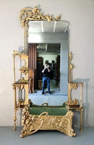 Art Nouveau entrance console - Furniture Style Art nouveau