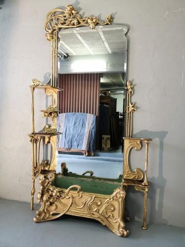 Art Nouveau entrance console -