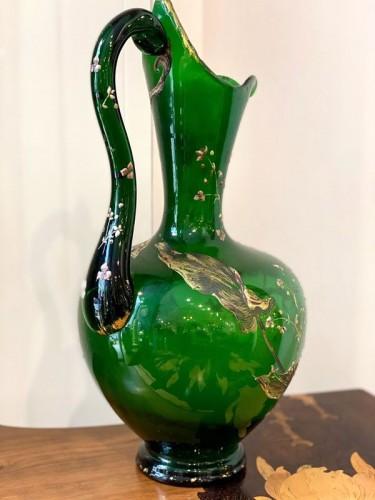 Emile Gallé - Crystal ewer - Art nouveau