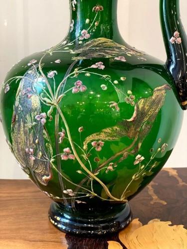 Art nouveau - Emile Gallé - Crystal ewer
