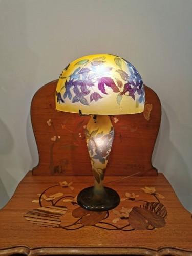 20th century - Emile Gallé - Mushroom lamp