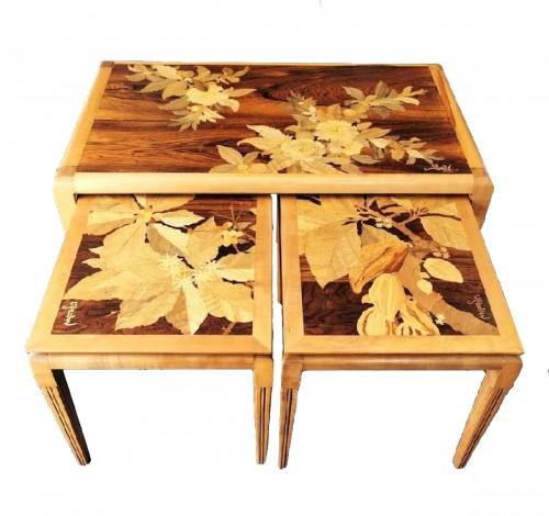 Emile Gallé - Modernist nesting tables
