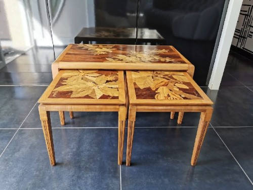 Emile Gallé - Modernist nesting tables - Furniture Style Art nouveau