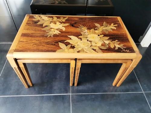 Art nouveau - Emile Gallé - Modernist nesting tables