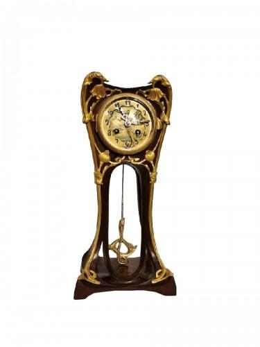 Louis Majorelle - Art Nouveau clock with poppies