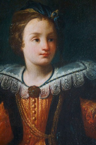 Carlo Francesco Nuvolone (Milan, 1609-1661) - Portrait of Young Girl - Louis XIII