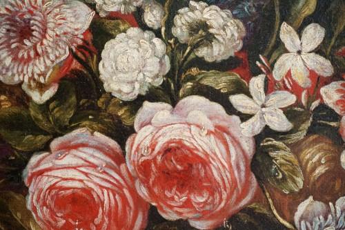 Giacomo Nani (1698-1755) - Still life with flowers, fruit and bird -