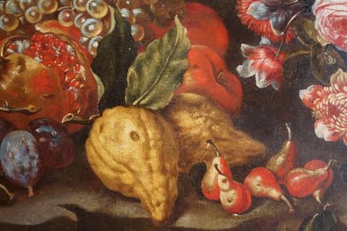 18th century - Giacomo Nani (1698-1755) - Still life with flowers, fruit and bird