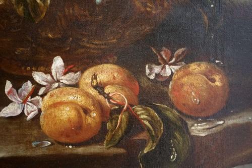 Giacomo Nani (1698-1755) - Still life with flowers, fruit and bird - Louis XV