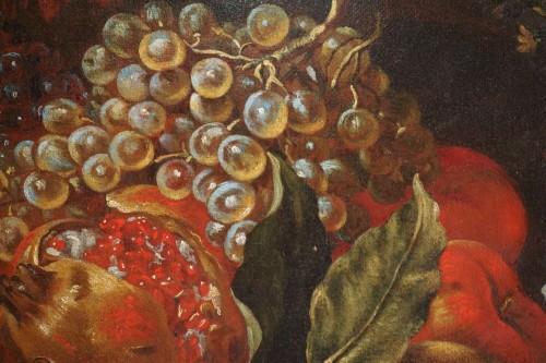 Louis XV - Giacomo Nani (1698-1755) - Still life with flowers, fruit and bird
