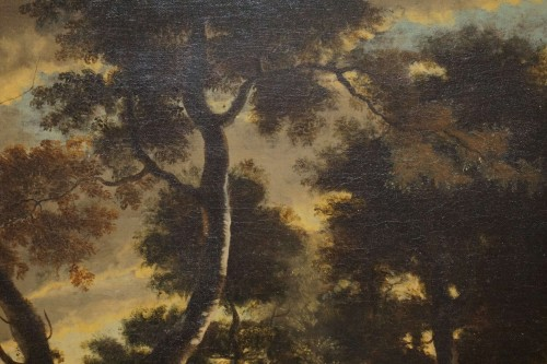 Paintings & Drawings  - Jan Hackaert (Amsterdam, 1628-1685) - Wooded landscape