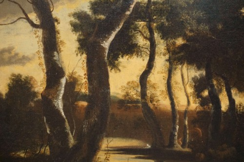 Jan Hackaert (Amsterdam, 1628-1685) - Wooded landscape -