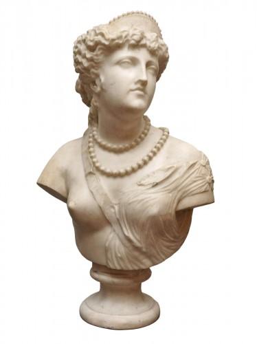 Jean Baptiste Auguste Clésinger, Marble Bust, Rome 1868