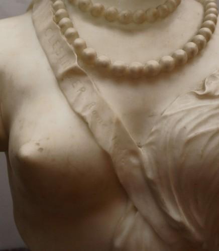 Sculpture  - Jean Baptiste Auguste Clésinger, Marble Bust, Rome 1868