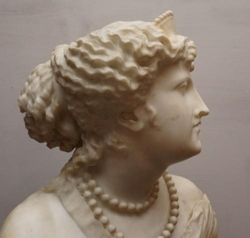 Jean Baptiste Auguste Clésinger, Marble Bust, Rome 1868 -