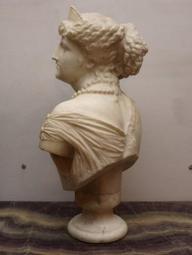 19th century - Jean Baptiste Auguste Clésinger, Marble Bust, Rome 1868