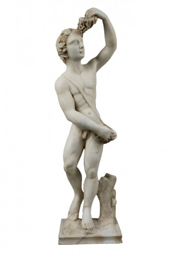 16th Century, Italian Marble Sculpture Bacchus