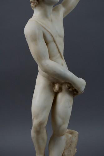 16th century - 16th Century, Italian Marble Sculpture Bacchus
