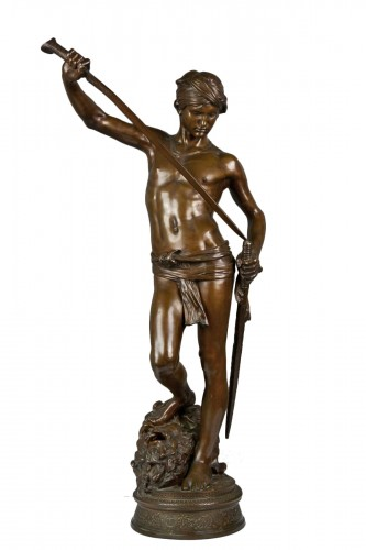 Antonin Mercié (1845-1916) -  David Bronze Sculpture