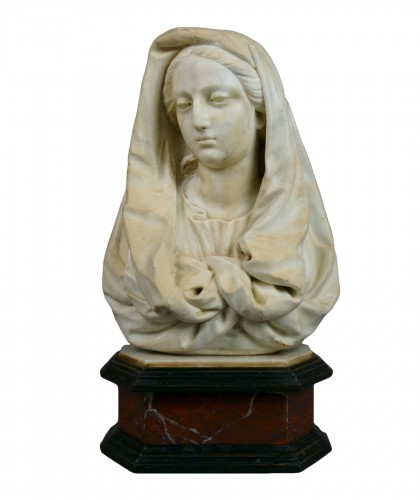 17th century Tuscany School -  Bust of the Virgin