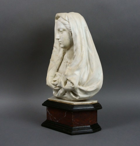 17th century Tuscany School -  Bust of the Virgin - Sculpture Style Louis XIV