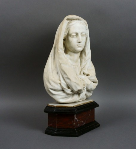 17th century Tuscany School -  Bust of the Virgin -